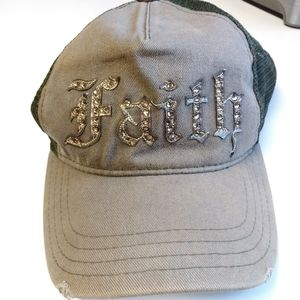 Connexion Faith Olive Green Truckers Hat